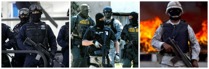 DEA and Mexican Police