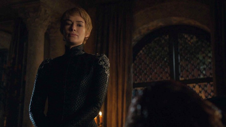 Cersei looks at Tommen